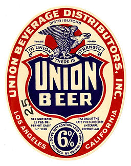 Beer label Union Beer LA