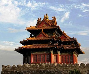Beijing - One of the corner towers of the Forbidden City.