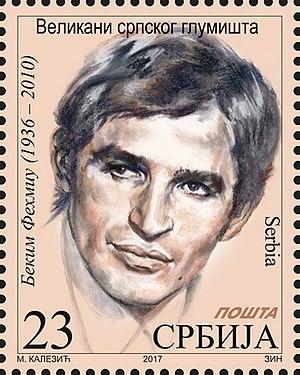 Bekim Fehmiu - Fehmiu on a 2017 Serbian stamp
