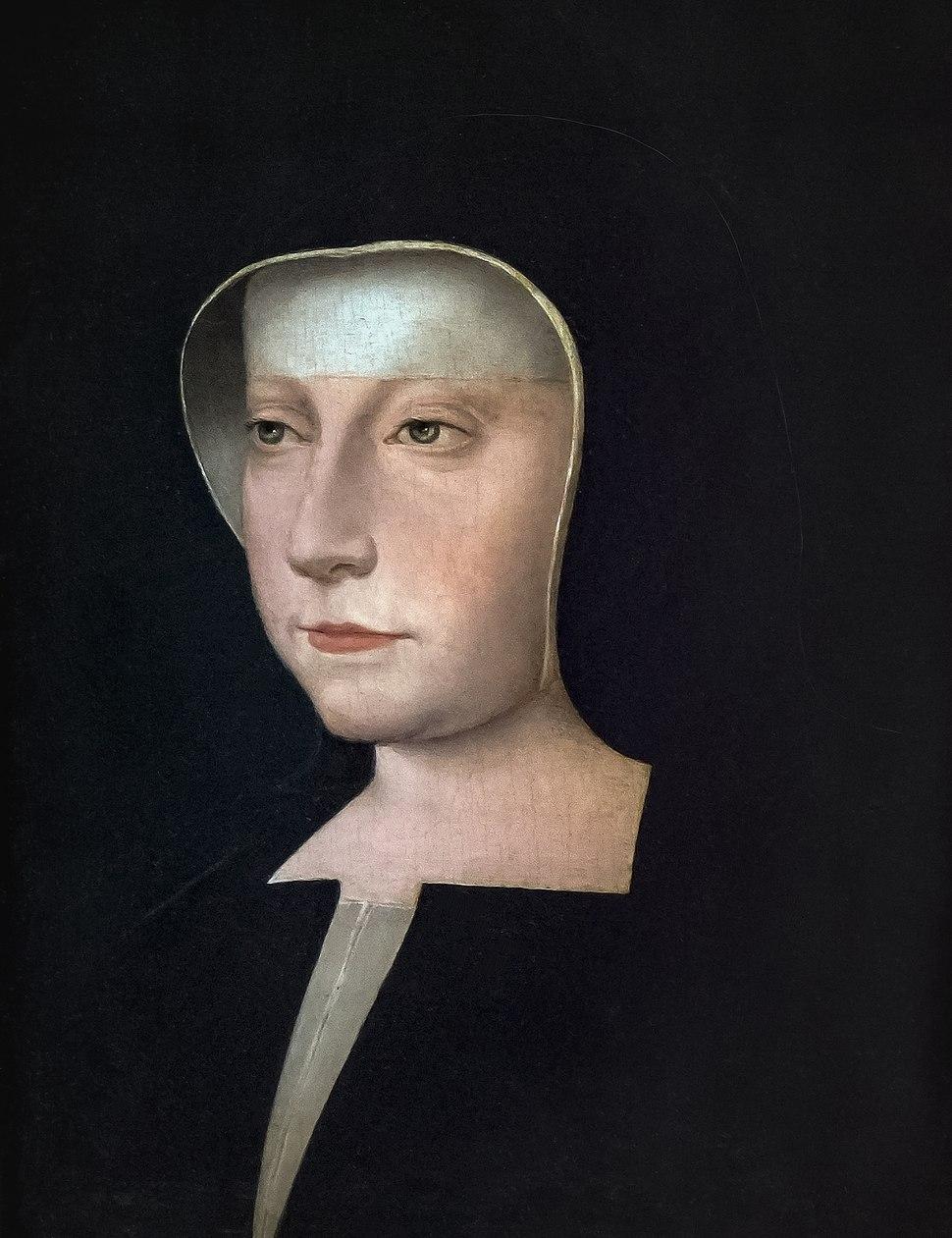 Bemberg fondation Toulouse - Portrait de Louise de Savoie, mère de François Ier - École De Jean Clouet (1475;1485-1540) 22x17 Inv.1013
