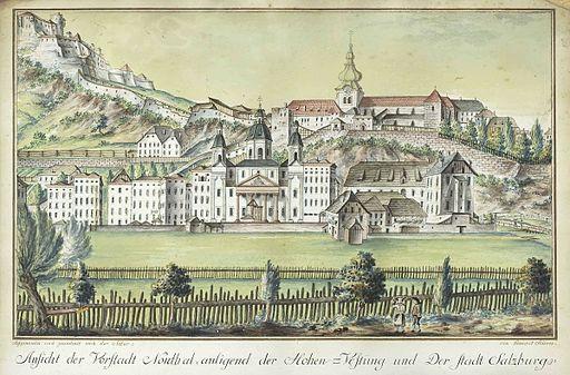 Benedict Seitner Ansicht der Vorstadt Nonthal