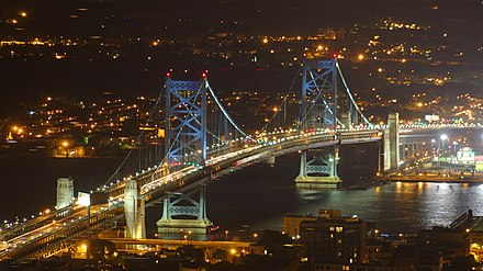 Ben Franklin Bridge at night BenjaminFranklinBridgeAtNight2.jpg