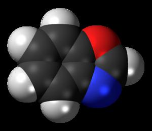 Benzoxazole - Image: Benzoxazole 3D spacefill inverted