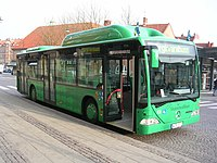 Mercedesbuss av modellen Citaro som stadsbuss i Lund