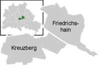 District map of Friedrichshain-Kreuzberg