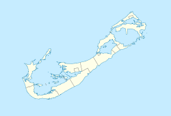 Map of Bermuda showing location of airport