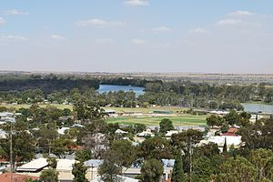 Berri, South Australia - Looking over Berri and the Murray River from the scenic lookout
