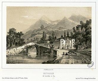 Lestelle-Bétharram - Bétharram near 1840, by Eugène de Malbos.