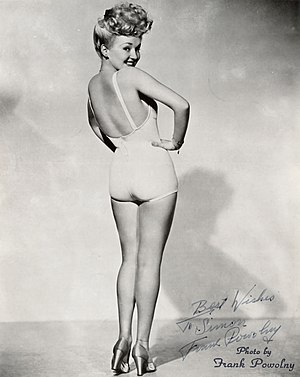 Pin-up model - Betty Grable's famous pin-up photo