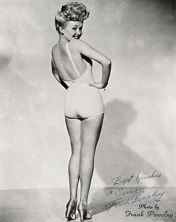 Pin-up of Betty Grable