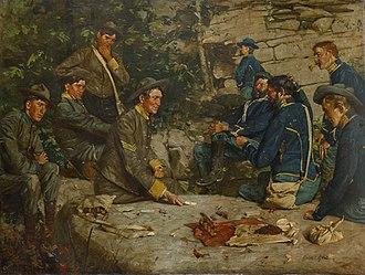 Gilbert Gaul (artist) - Between the Lines by William Gilbert Gaul, 1904-1908, Birmingham Museum of Art