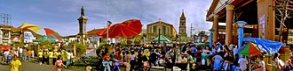 Biñan - Panoramic view of Plaza Rizal