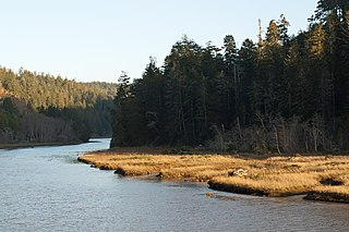 Big River (California) River in Mendocino County, California (USA), south of Mendocino Village
