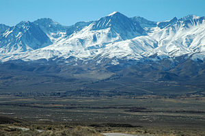 Big Pine, California - Big Pine in the Owens Valley, Sierra Nevada behind