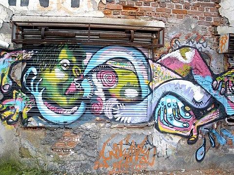Bilbao Ribera de Deusto graffiti