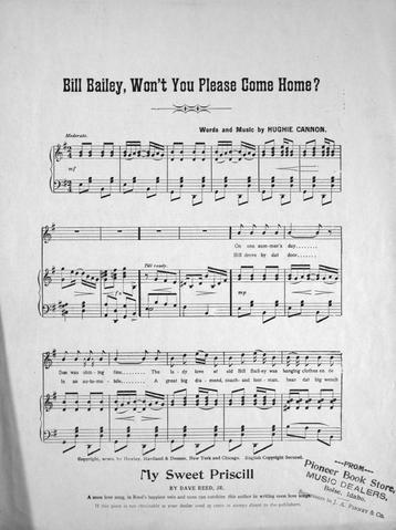 Won T You Come Home Bill Bailey Original