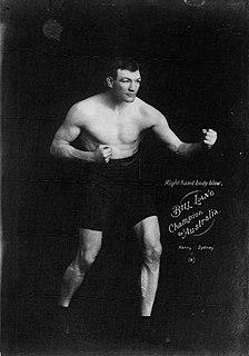 Bill Lang Australian heavyweight boxer and footballer