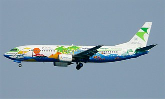 Binter Canarias - A former Binter Canarias Boeing 737-400 wearing a special livery