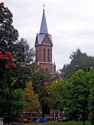 Birštonas - Image: Birštono Šv. Antano Paduviečio bažnyčia