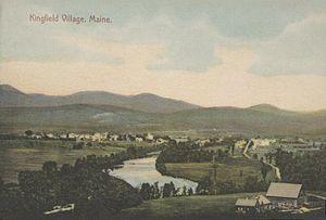 Kingfield, Maine - Bird's-eye view in 1909