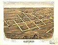 Bird's eye view of Manteno, Kankakee County, Illinois 1869. LOC 73693362.jpg