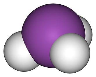 Pnictogen hydride - Image: Bismuthine 3D vd W