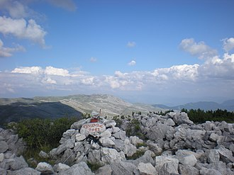 Bjelašnica - Image: Bjelasnica, View from Krvavac summit