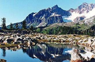 Mount Baker National Recreation Area - Reflecting tarn along Park Butte Trail