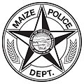 Black and white Maize KS police badge.jpg