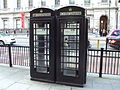Black telephone boxes, Piccadilly - DSC04253.JPG