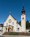 Bleiburg Pfarrkirche hll Peter und Paul Westwand mit Vorhalle 21092015 7706.jpg