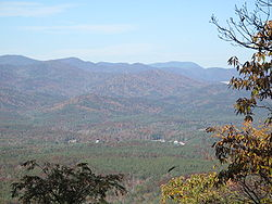 Taken from Tamassee Knob Mountain