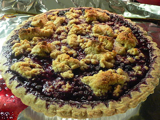 Blueberry Pie with Almond Crumb Topping, May 2009