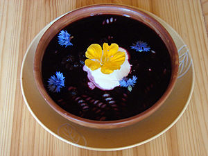 Fruit soup - Blueberry soup