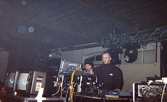Boards of Canada - Image: Boards of Canada Warp Lighthouse Party 1999
