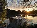 Boat at sunset in Vertou (Sèvre nantaise) 3.jpg