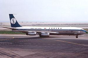 Sabena Flight 548 - A Sabena Boeing 707 similar to the crashed aircraft