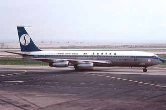 Sabena Flight 548 - A Sabena Boeing 707 similar to the aircraft involved in the accident