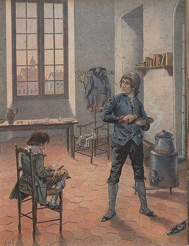 Наполеон и его брат Луи в Осоне. Де Бревиль (1910)