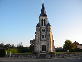 The church in Boncourt-le-Bois