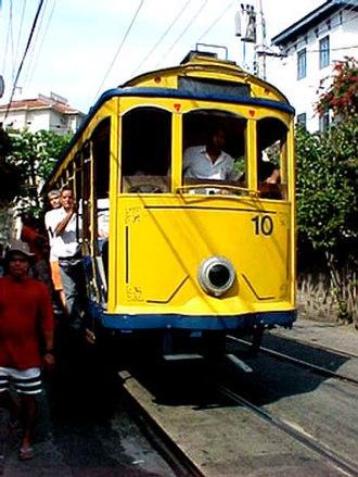 Santa Teresa Tram - Santa Teresa tram of Rio de Janeiro in 2006