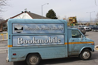 Missoula Public Library - Missoula Public Library bookmobile on National Bookmobile Day, the Wednesday of National Library Week (2011)