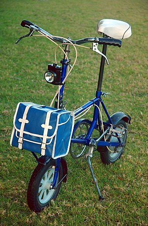Stanningley - Bootie Folding Cycle, made in the Vickersdale works, Stanningley, Leeds from 1965 to 1973.
