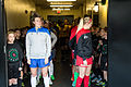 Boston Breakers and Portland Thorns FC players at tunnel (16495431984).jpg