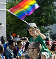 Boy with flag - DC Capital Pride parade - 2013-06-08 (8992400146).jpg