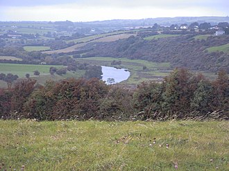 River Boyne - The River Boyne and Boyne Valley as seen from the Knowth passage tomb of Brú na Bóinne.