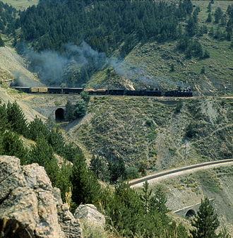 Narrow-gauge railways in Bosnia and Herzegovina - A freight train in 1970.