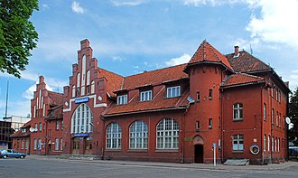 Prussian state railways - Ex-Prussian State Railways station in Braunsberg (now Braniewo, Poland).