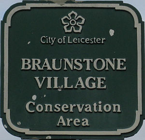 Braunstone Town - Braunstone Village Conservation Area sign
