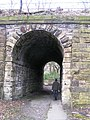 Bridge carrying the Railway over footpath from Shibden Valley to Magna Via - geograph.org.uk - 1216261.jpg
